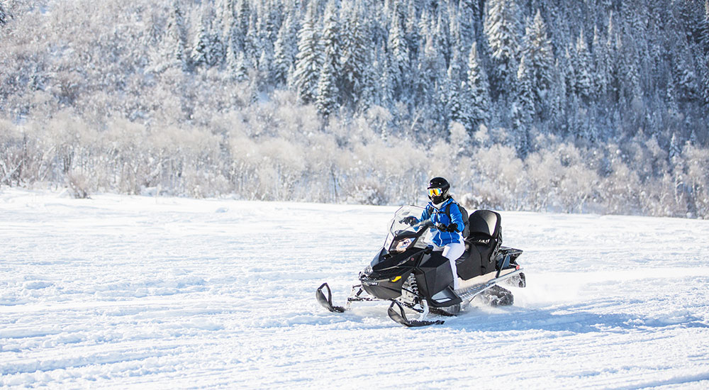 Snowmobile in McCall