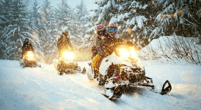 McCall Idaho Snowmobile & Hotspring Tour